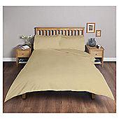 Tesco Cotton Rich Plain Dye Double Duvet Cover, - Cream