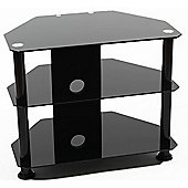 Iconic Black Glass Universal TV Stand for TVs up to 32 inch