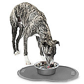 Petmate Replendish Single Pet Food Mat in Brushed Nickel - Small
