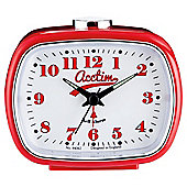 Acctim Felix Retro Alarm Clock, Red
