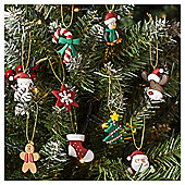Christmas Character Christmas Tree Decorations, 9 pack