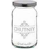 KitchenCraft Home Made 454ml Decorated 'Chutney' Preserving Jar Loose