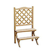 Bentley Garden Wooden 2 Tier Lattice Plant Stand