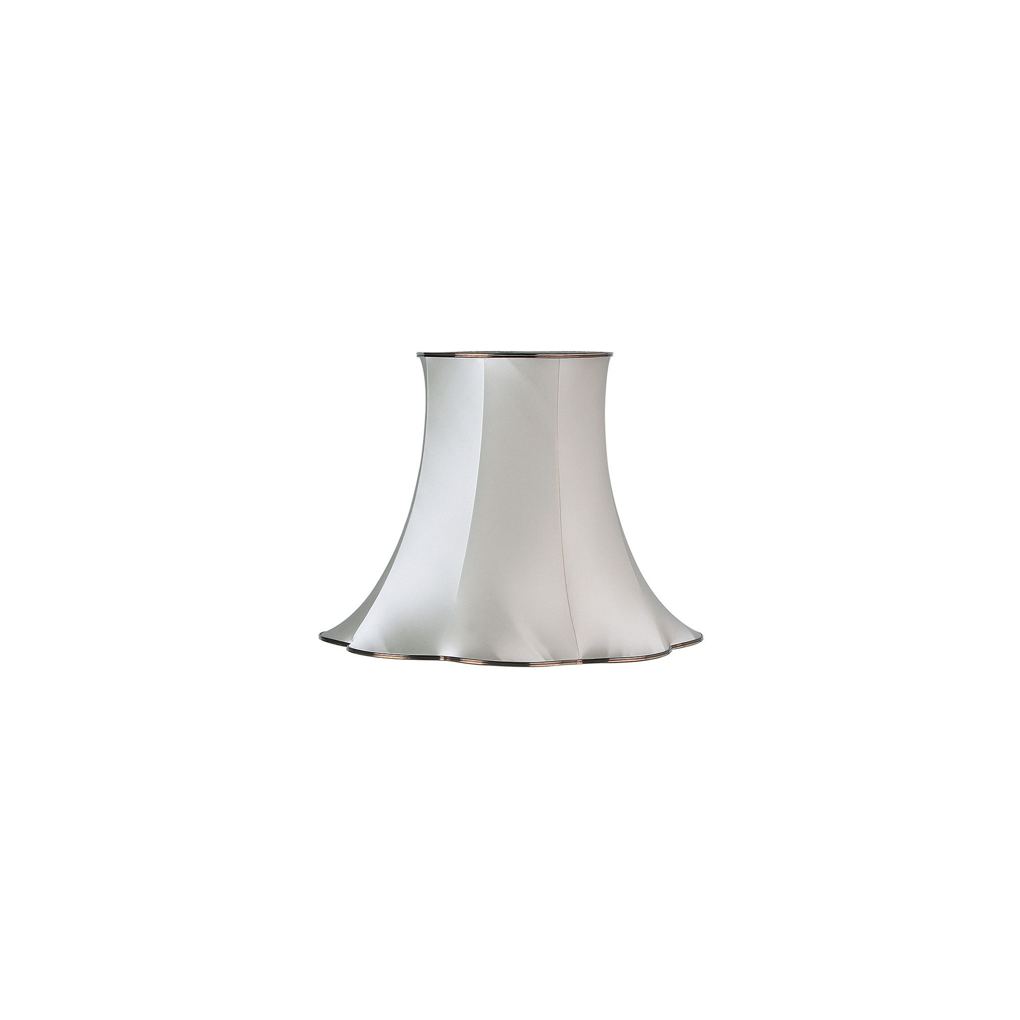 Endon Lighting Daisy Shade in Oyster Satin Fabric 43 x 56