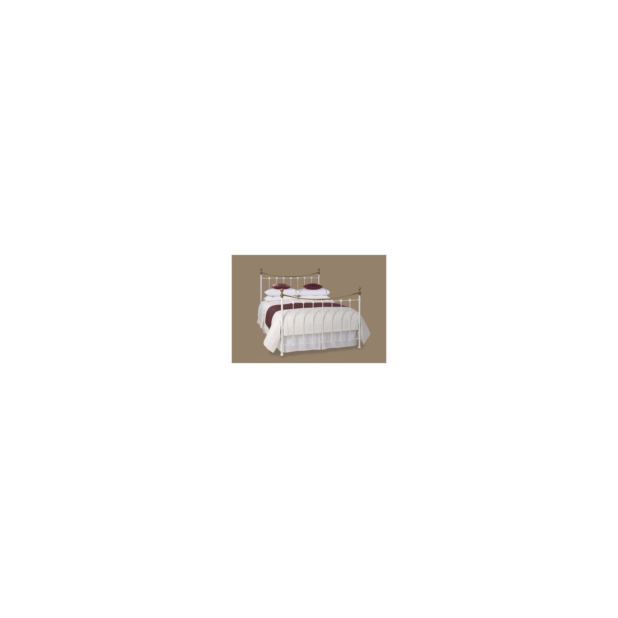 OBC Carrick Bed Frame - Single - Satin White at Tesco Direct