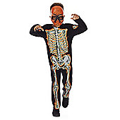 F&F Halloween Skeleton Dress-Up Costume - Black