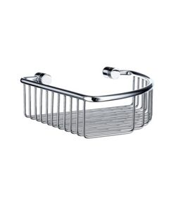 Smedbo Studio Corner Soap Basket - Brushed Chrome