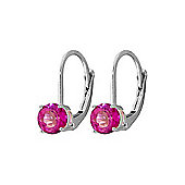 QP Jewellers 1.20ct Pink Topaz Leverback Earrings in Sterling Silver