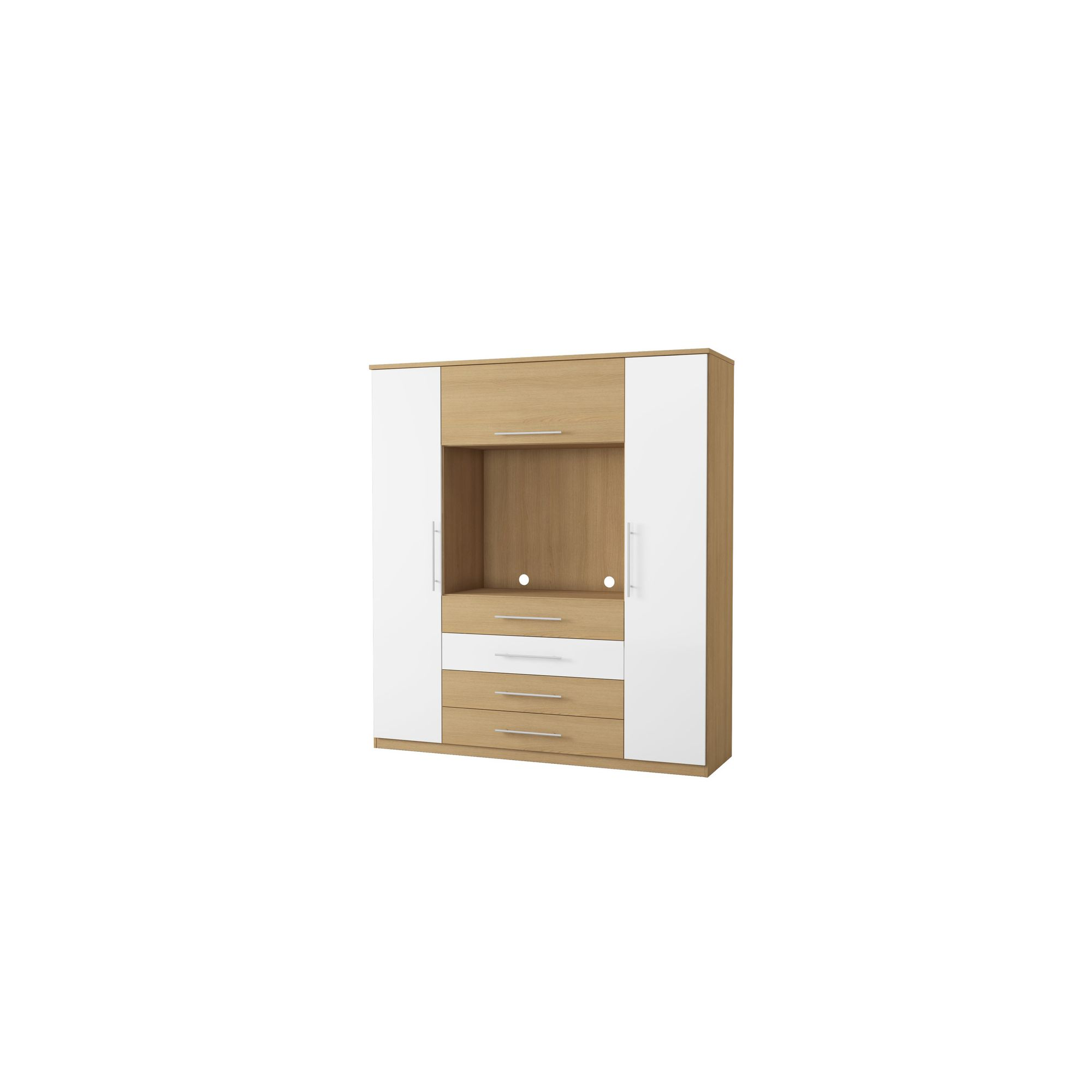 Urbane Designs Sorrento TV 2 Door 3 Drawer Wardrobe at Tesco Direct