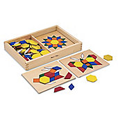 Wooden Pattern Blocks And Boards - Classic Toys - Melissa & Doug