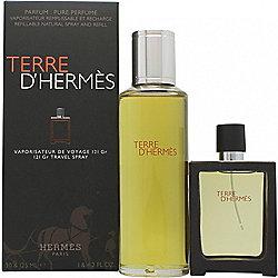 Hermes Terre D'Hermes Gift Set 30ml EDP Spray + 125ml EDP Refill For Men