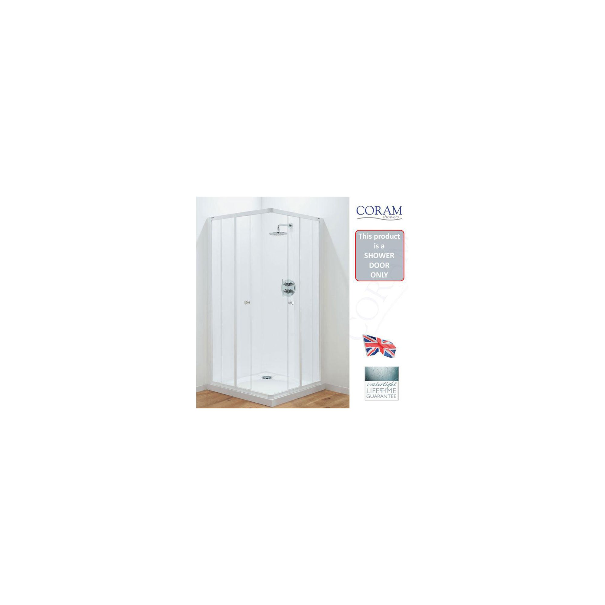Coram Optima Corner Entry Frame and Door Pack Only 760mm at Tesco Direct