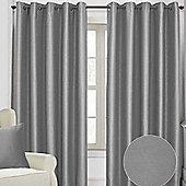 "Homescapes Deep Sea Grey Herringbone Style Eyelet Curtains, 46x54"""