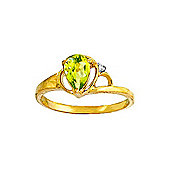 QP Jewellers Diamond & Peridot Glow Ring in 14K Gold