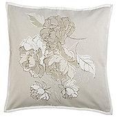 Floral Beaded Cushion