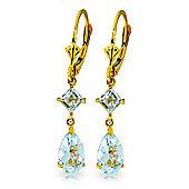 QP Jewellers 4.50ct Aquamarine Droplet Earrings in 14K Gold
