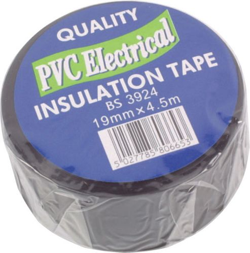 4.5M Black Electrical Pvc Insulation Tape 19mm Roll