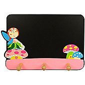 Bigjigs Toys BJ892 Blackboard with Coat Hooks (Fairy)