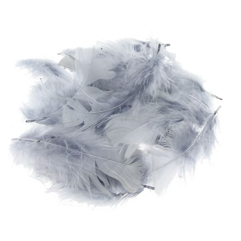 Feather Petals - Grey