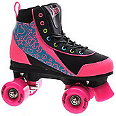 Luscious Retro Quad Roller Skates - Disco Diva - Black