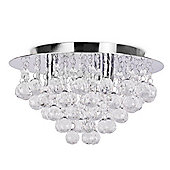 Small Nakita Flush Ceiling Light in Chrome