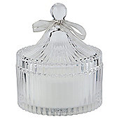 Tesco Decorative Glass Filled Candle Jar, Clear
