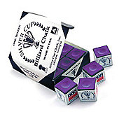 Silver Cup Billiard Chalk (12 Pieces) - Chalk Colour : Purple
