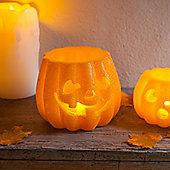 Regular Glittery Halloween Pumpkin Battery Wax LED Candle