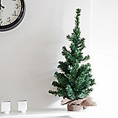 75cm Mini Artificial Christmas Tree With Burlap Base