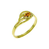 QP Jewellers 0.30ct Citrine Pear Strand Ring in 14K Gold