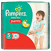 Pampers Baby Dry Pants Size 5 Carry 21