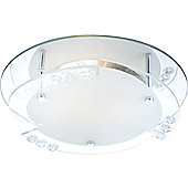 Home Essence Armena Flush Ceiling Light in Chrome