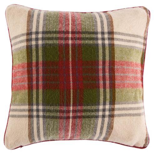 buy tesco tartan cushion multicoloured from our cushions. Black Bedroom Furniture Sets. Home Design Ideas