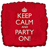 18' Keep Calm Party On Foil (each)