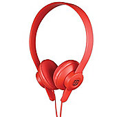 Scosche lobeDOPE On Ear Headphones (Red) with Microphone