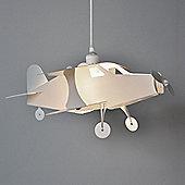 Childrens Aeroplane Ceiling Pendant Light Shade in White