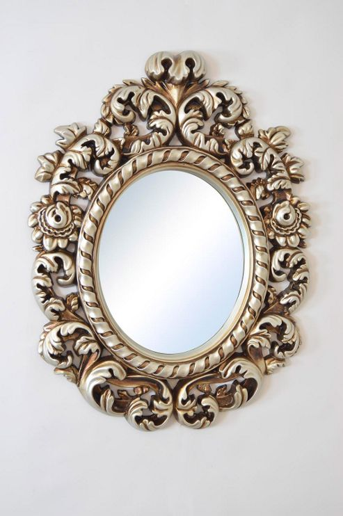 Buy large decorative silver antique style portrait wall for Large silver decorative mirrors