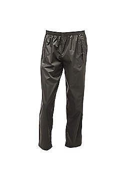 Regatta Mens Pack It Waterproof Overtrousers - Green