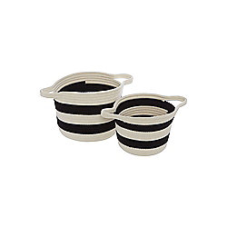 Linea Set Of 2 Striped Rope Baskets