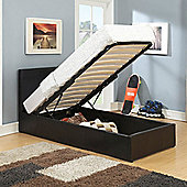 Happy Beds Berlin Ottoman 4ft6 Black Faux Leather Bed Frame