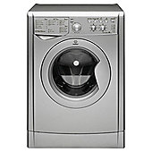 Indesit IWC61451S Washing Machine, 6Kg Wash Load, 1400 RPM Spin, A+ Energy Rating, Silver