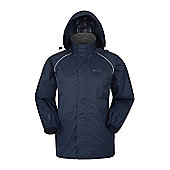 Mens Pakka Waterproof Jacket Raincoat Pack Away Foldable Coat Cagoule - Blue