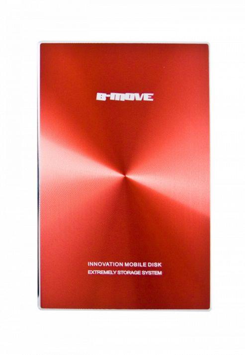 B-MOVE Shelter Colors 2.5 Inch Aluminium External SATA HDD Enclosure, Supports Max. 1TB, USB 2.0, Red BM-HDB03T