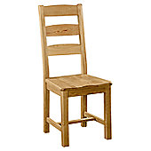 Alterton Furniture Pemberley Slatted Dining Chair with Wooden Seat (Set of 2)