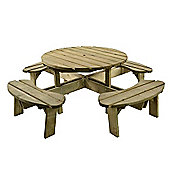 Aberdeen Round Picnic Table - Seats 8