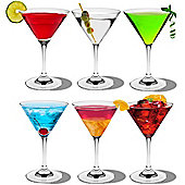 Martini Cocktail Drinking Glasses - Box of 6 - Colour Retail Gift Box - 200ml