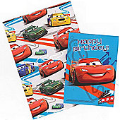 Gem Disney Cars Wrapping Paper, Birthday Card and Gift Tags Pack