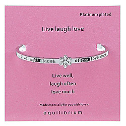 Live Love Laugh Platinum Plated Bangle