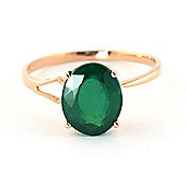 QP Jewellers 2.90ct Emerald Marvel Ring in 14K Rose Gold