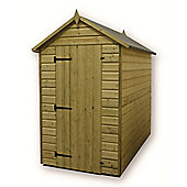 4ft x 4ft Premier Windowless Pressure Treated T&G Apex Shed + Higher Eaves & Ridge Height + Single Door